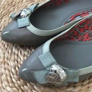 Coach Shoes - Coach Poppy Gray Flats Size 8.5
